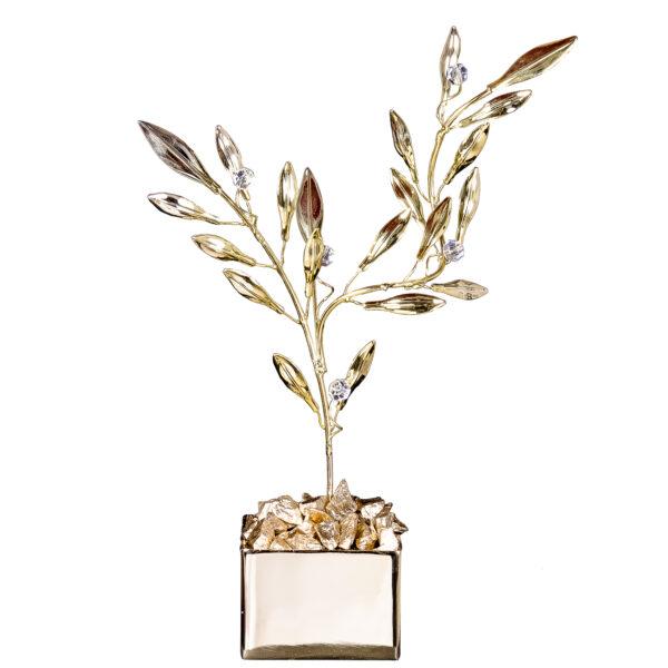 Διακοσμητικό Κλαδί Ελιάς Χρυσό