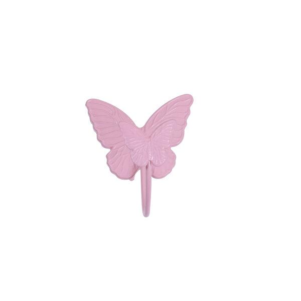 Μεταλλική Κρεμάστρα Πεταλούδα Ρόζ